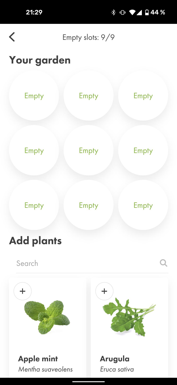 Click and Grow App Kapseln