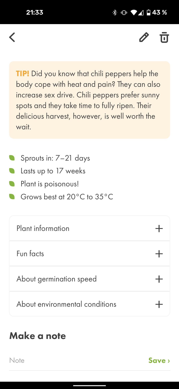 Click and Grow App Infos